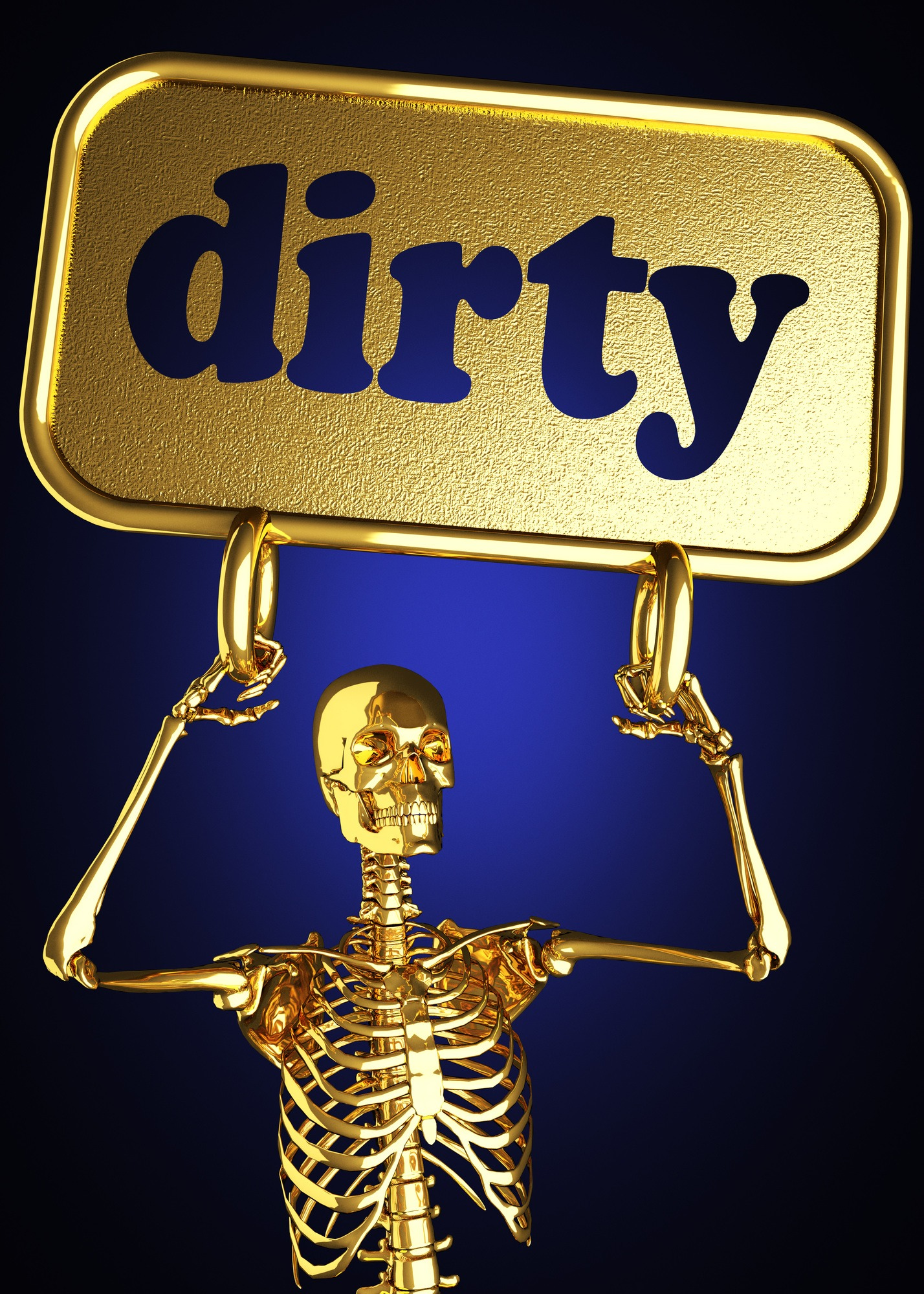 dirty word and golden skeleton